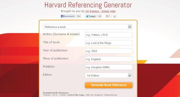 Harvard Referencing Generator