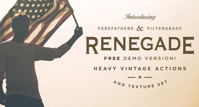 Renegade: Set De 4 Filtros Retro Para Photoshop