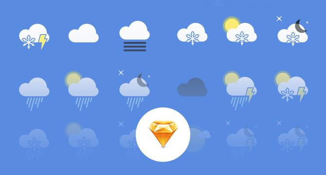 Iconos De Clima En Sketch