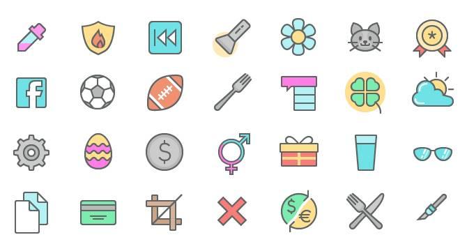 set-de-iconos-coloridos-y-delineados