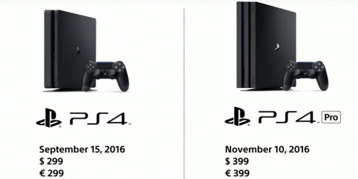 comparing PS4 standard with PS4 PRO
