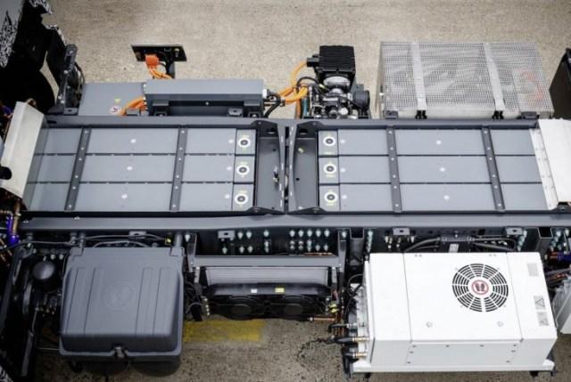 Baterías del camión. foto: Daimler