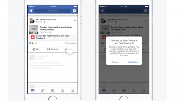 Facebook changes strategy to combat false news