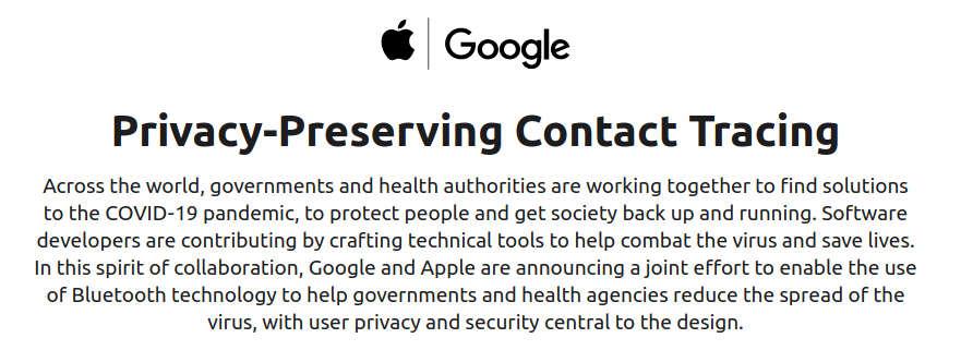 Anuncio de Apple y Google