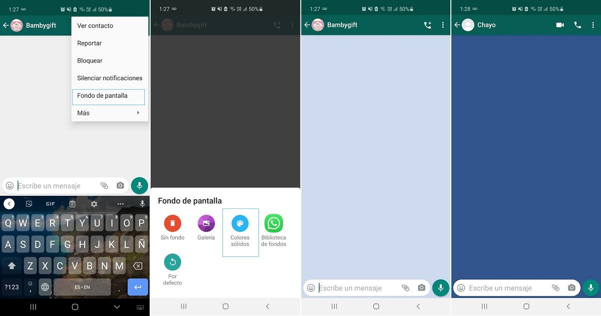 Cambiar fondo de pantalla WhatsApp