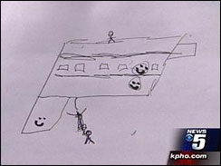 drawing of gun by 13-year-old student which led to suspension