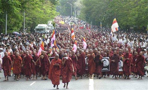 yangon demonstrations
