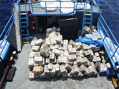 MoD Photo of Drugs Discovered by HMS Iron Duke