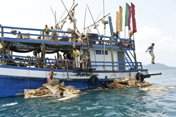 The cast of Survivor: Kaoh Rong jump into the adventure of a lifetime!