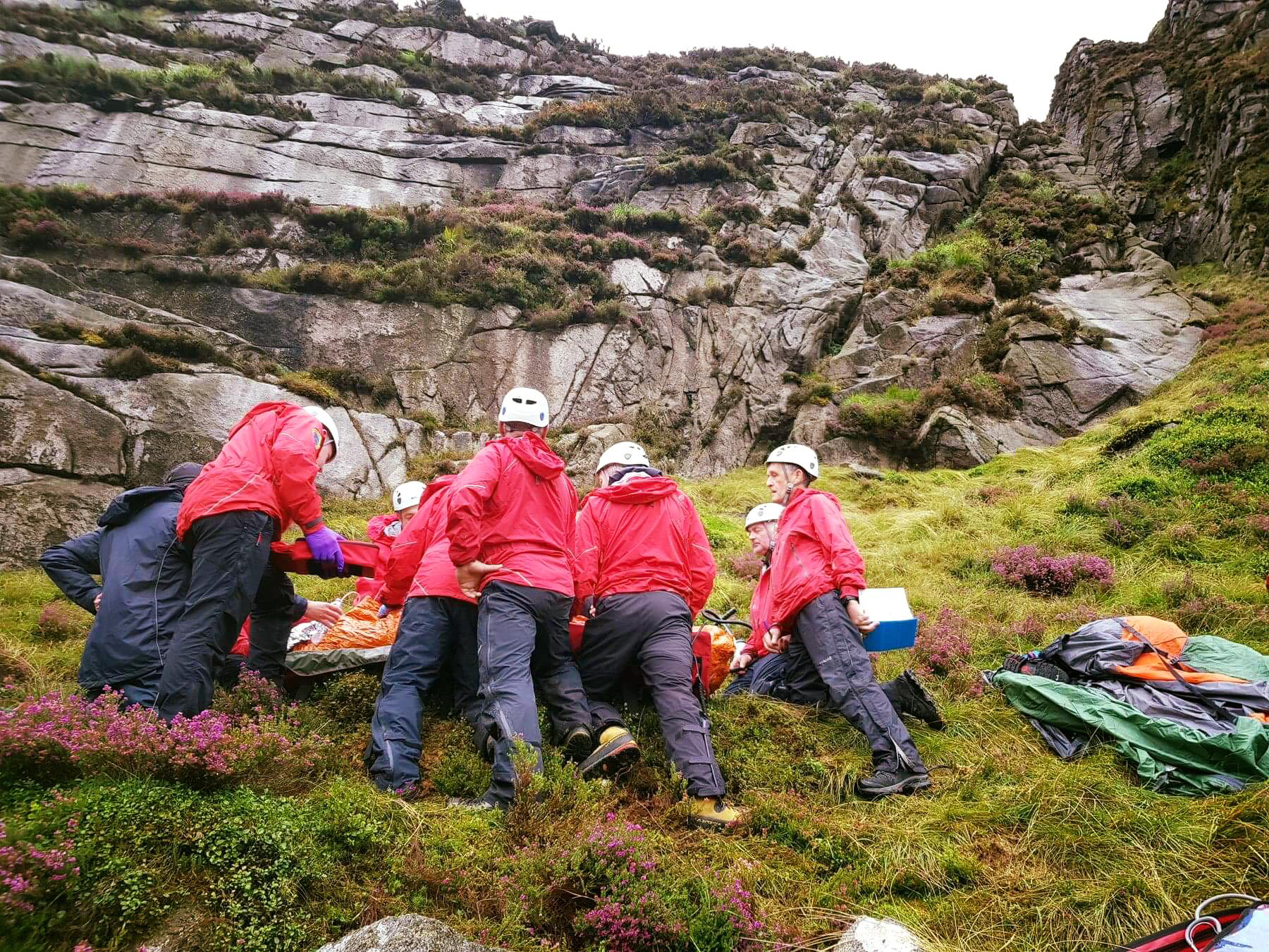 Mourne MRT Jumping sheep injures walker