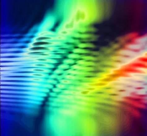 L'arcobaleno ricostruito con tecnologia nanometrica (fonte: Jean-Sebastien Bouillard, Ryan McCarron)