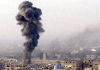 Un fermo immagine di un video di Sky tg24 mostra l'attentato
