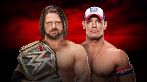 من خرج حاملا لقب WWE في رويال رامبل 2017 سينا أم ستايلز