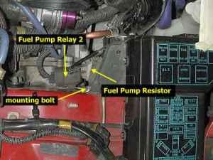 Stealth 316  Fuel Pump RelayResistor Bypass