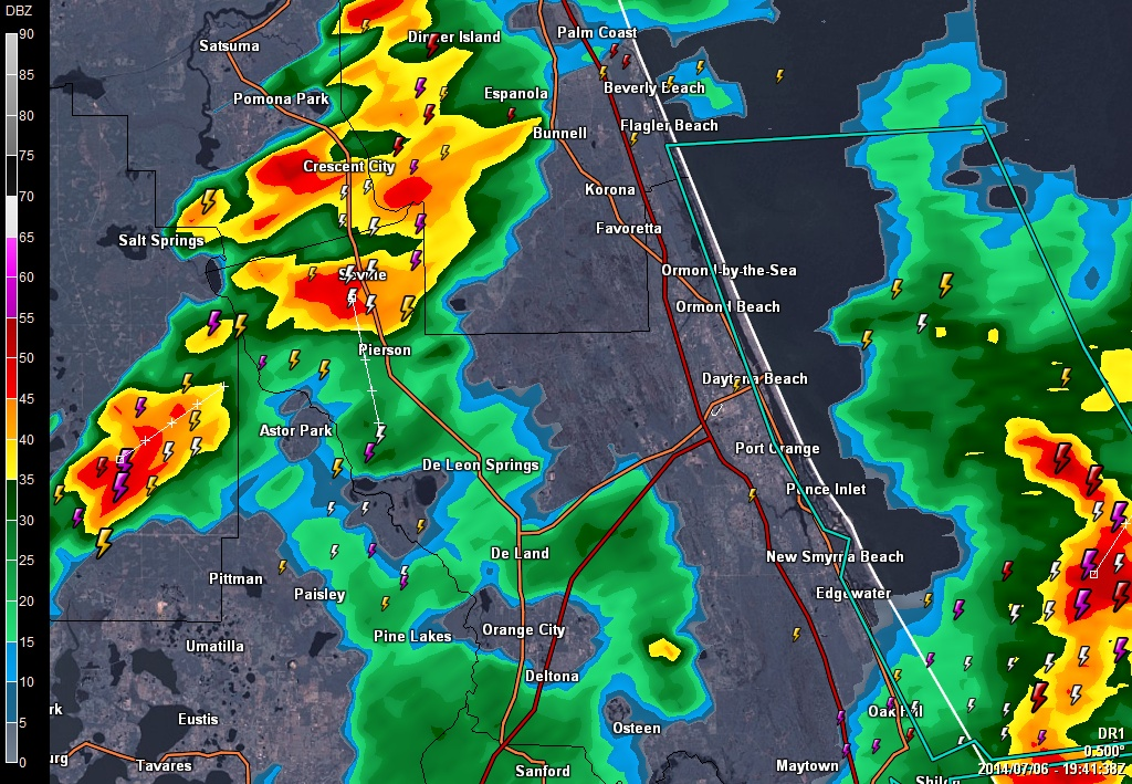 Daytona Weather Radar Map