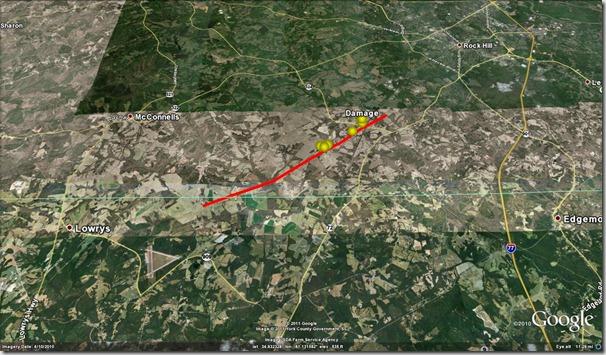 RH tornado track