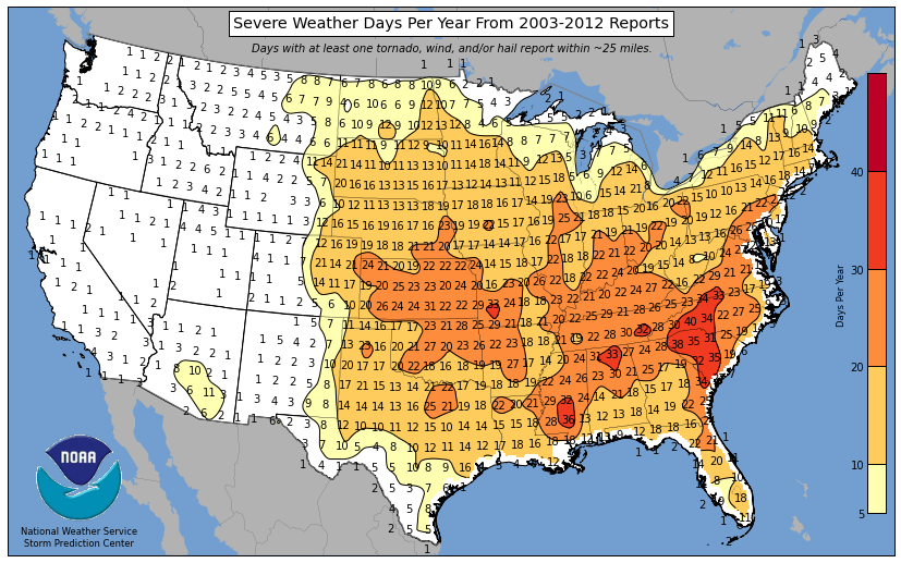 Us Severe Weather Map Charlotte the new Severe Weather Capital of America?   @wxbrad Blog