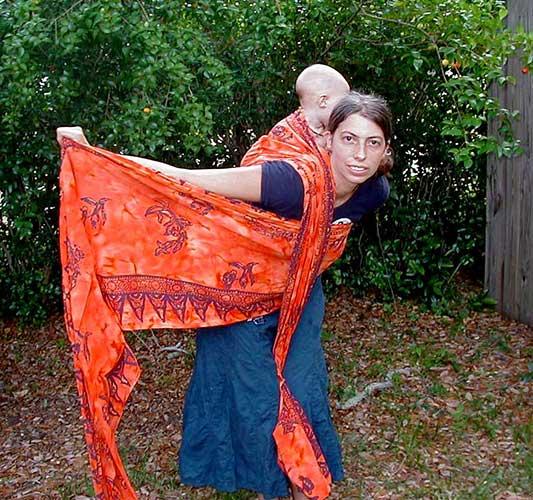 double hammock carry woven wrap
