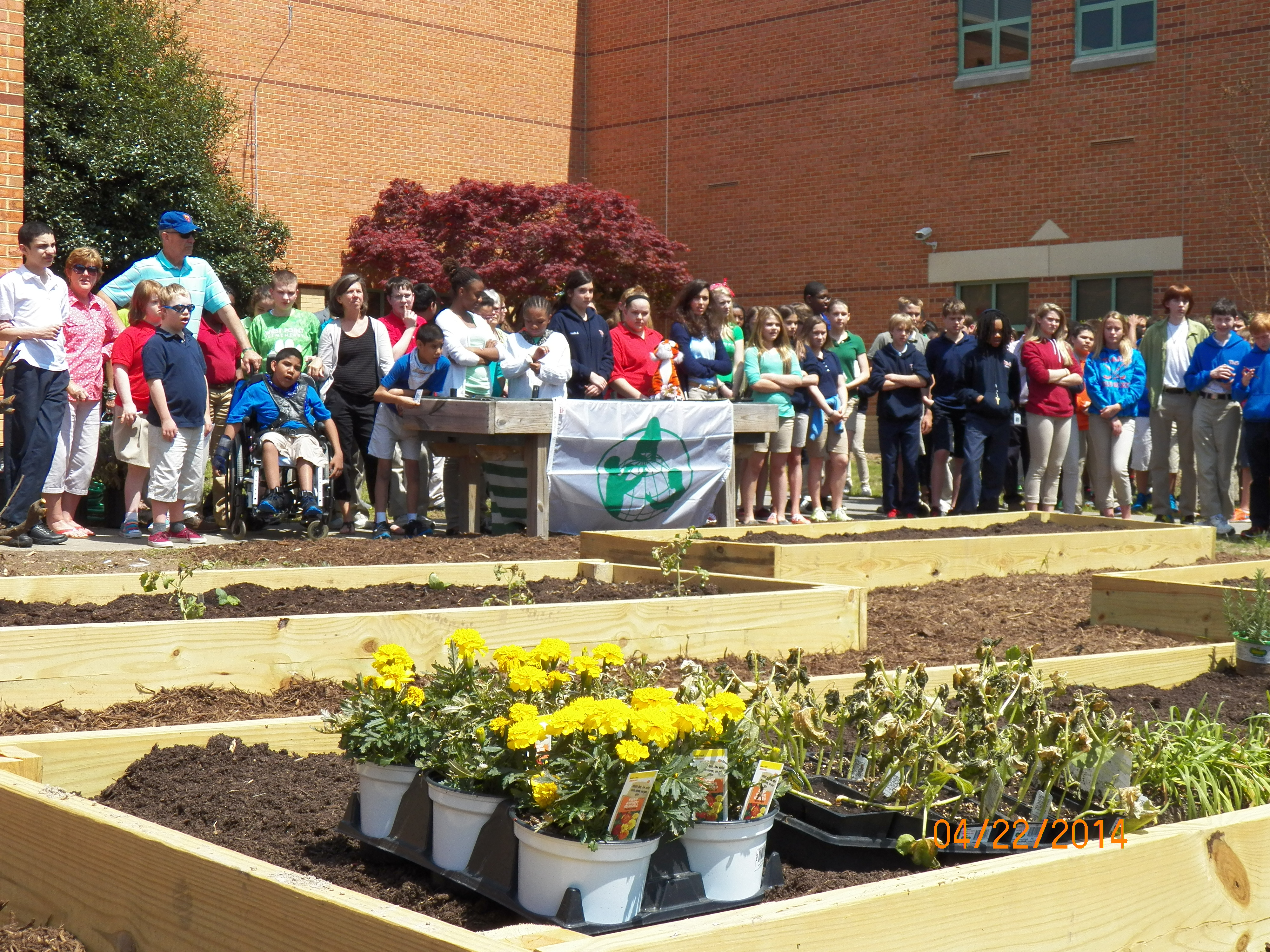 New Garden At Toano Middle School To Supply Cafeteria Shape Lesson Plans