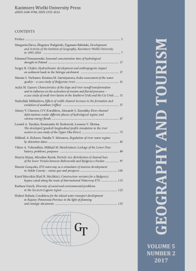 Geography and Tourism 2017 volume 5 number 2