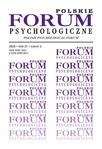 Polskie Forum Psychologiczne tom 25 numer 2