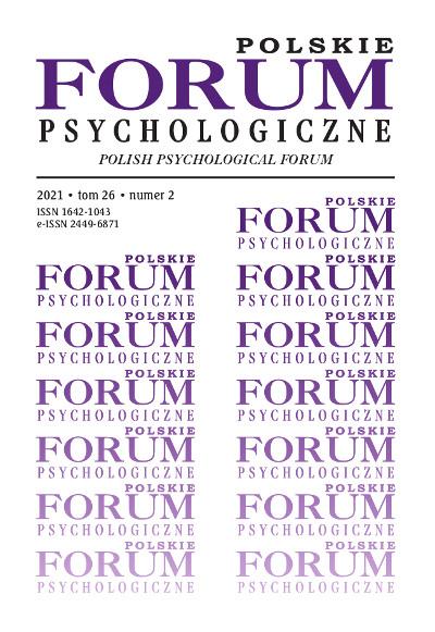 Polskie Forum Psychologiczne tom 26 numer 2