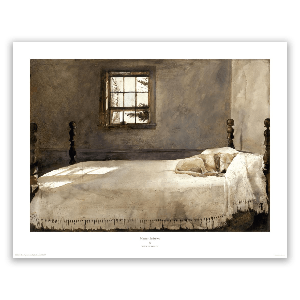 andrew wyeth master bedroom print