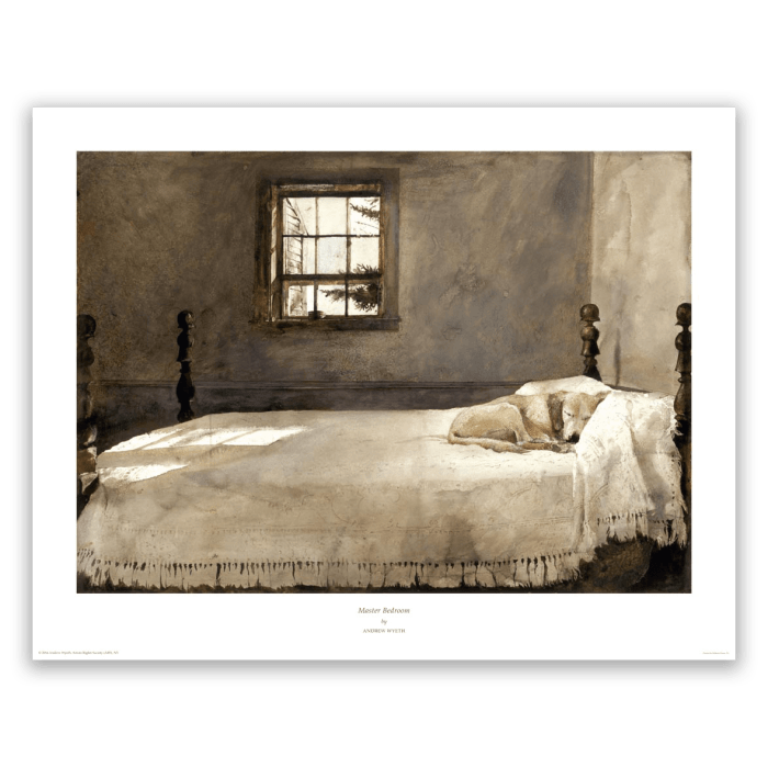 Master Bedroom By Andrew Wyeth Wyeth Print Gallery