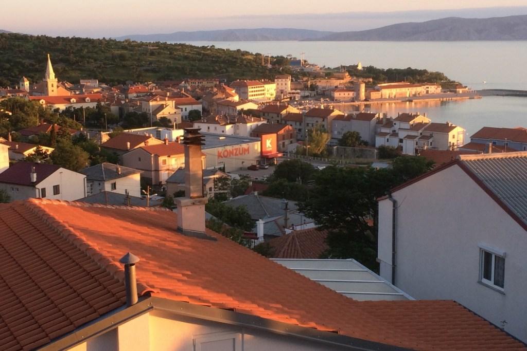 overlooking Senj at sunset