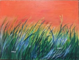 Who owns the land, painting by AnneMarie Foley
