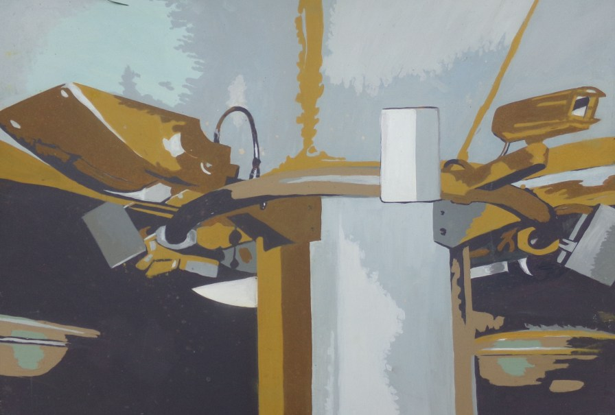 Big brother watches, painting by AnneMarie Foley