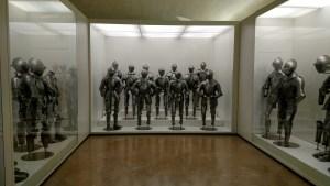 Suits of armor in Toledo Alcazar