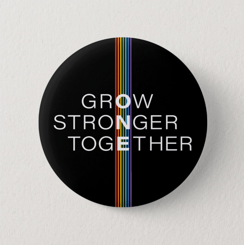 Grow Stronger Together Button