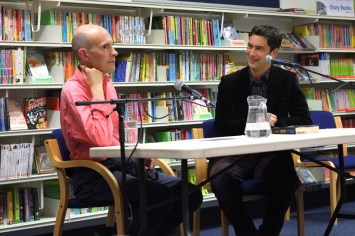 Paul WIlletts (left) talking 60s London with Keiron Pim (Photo: Bob Coe)o:
