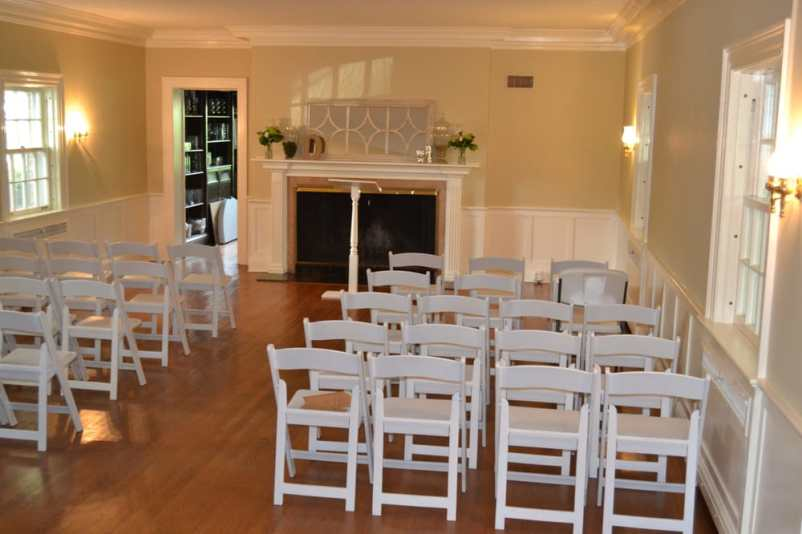 ballroom with chairs