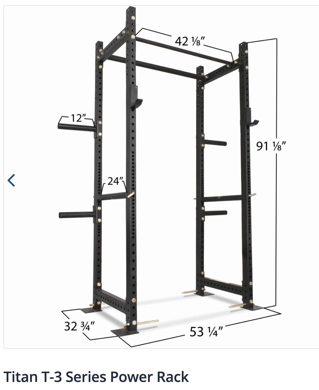titan t 3 power rack wynn strength