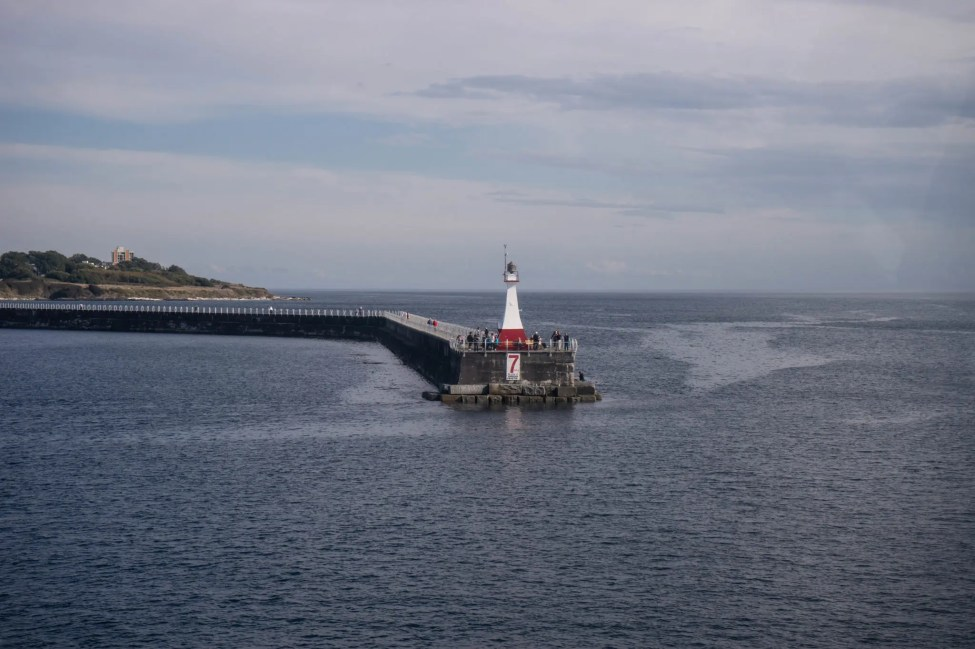 The entrance to Victoria Harbour