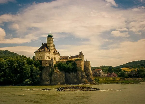 Melk Abbey on the Danube River in Austria