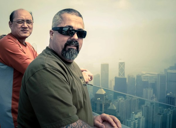 Two of the good guys, at the Peak in Hong Kong