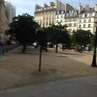 Paris. Place Dauphine. Sunday morning. Quiet clean and beautiful.