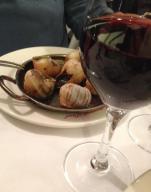 Paris. Chez Paul. Escargot and a good red wine