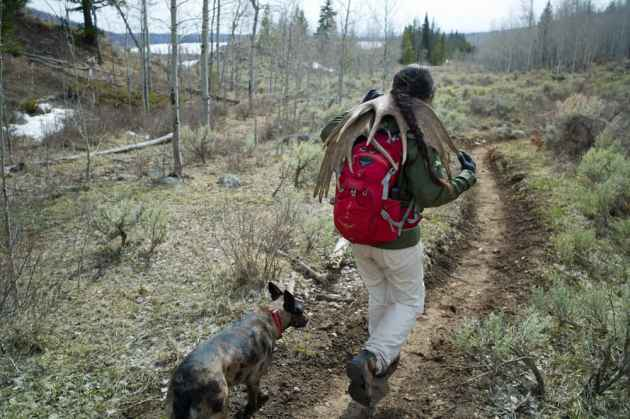 Federal lands offer Americans numerous benefits, including the simple pleasure of hiking and antler collecting. Some lawmakers say Wyoming could do a better job running public property while others fear state management wouldn't take into account intangible assets like open space and clean environments that citizens today take for granted. (Angus M. Thuermer Jr./WyoFile)