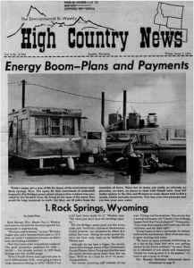 A look at how Montana and Wyoming towns booming from energy development -- Rock Springs, Gillette, Hanna, Colstrip, Lame Deer -- are responding to pressures on their infrastructure, schools, police, health services, and social fabric.