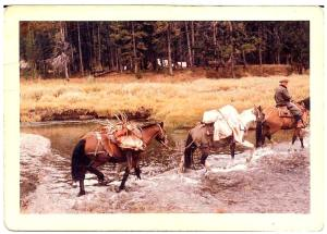 Kenny Sailors also worked as an outfitter in Wyoming. (courtesy of Bill Schrage - Kennysailorsjumpshot.com)