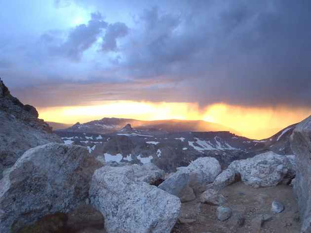 A new virtual field trip takes viewers up the Grand Teton and lets them take in views like this one from the lower saddle, while they remain on their computers at home. (Photo by Scott McGee of Exum Mountain Guides)
