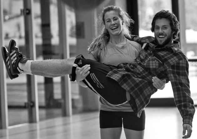 As a friend of many U.S. Ski and Snowboard Team members and because of the time he puts into ski photography, Selkowitz has been able to catch candid moments. In Vail, Colorado, he took this picture of Jackson Hole racers Resi Stiegler and Max Hammer working out in 2010. (SelkoPhoto/Jonathan Selkowitz)