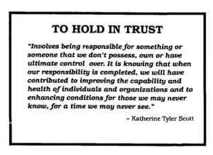 to hold in trust mark kinner