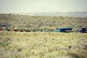 Temporary cattle tagging (?) operation inside a Red Desert WSA on BLM Land. (Courtesy Amber Wilson)