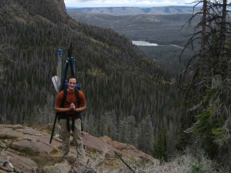 University of Wyoming doctorate student John Calder's research shows that the Rocky Mountain West will continue to see more massive wildfires more often as temperatures rise with climate change. (courtesy John Calder)