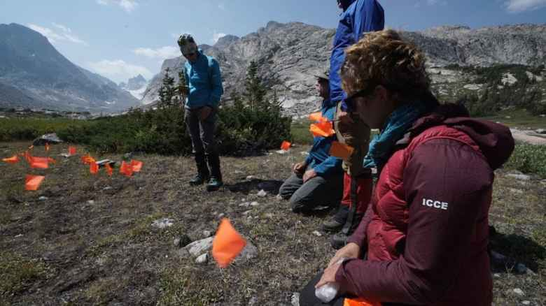 Archaeology students use GPS to mark sites of finds and then use ArcGIS to create maps to submit both to the BLM and to the State Historic Preservation Office.